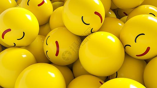 微笑表情符号背景图片