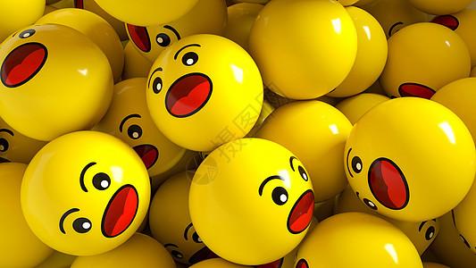 可爱黄色圆头表情图片