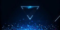 科技梦幻三角形背景图片