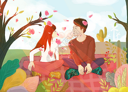 春季浪漫情人节图片