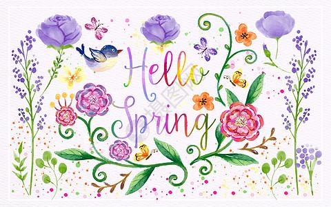彩绘春天图片