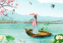 古风传统清明节插画图片