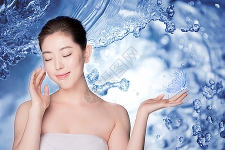 补水化妆品宣传图图片
