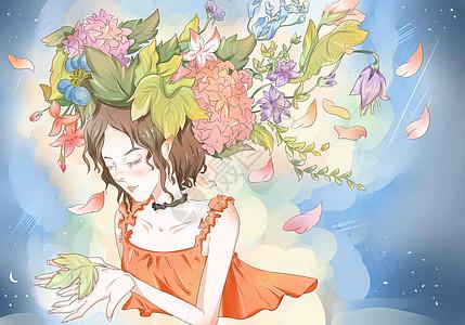 女孩的春天图片