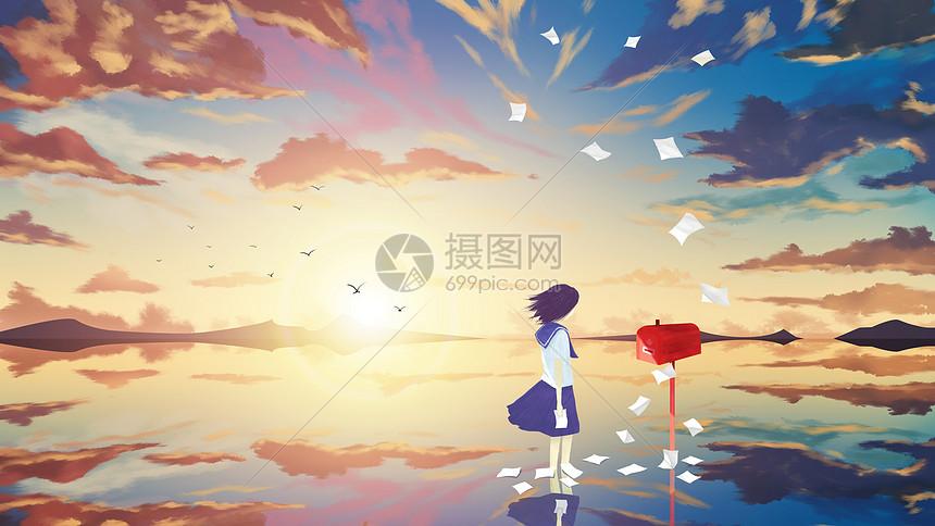 天空之境-少女的信箱图片