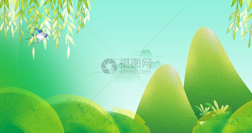 春季旅游海报背景图片