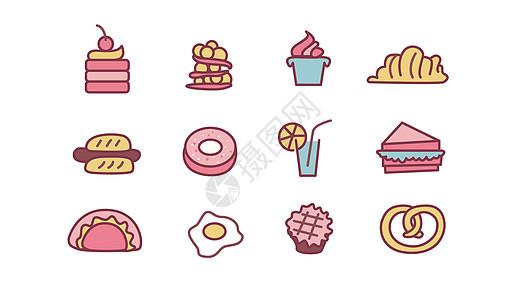 图标甜点食物图片