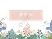 背景素材 春之花图片