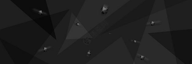 简约几何黑色背景图片