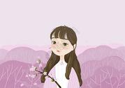 樱花女孩图片