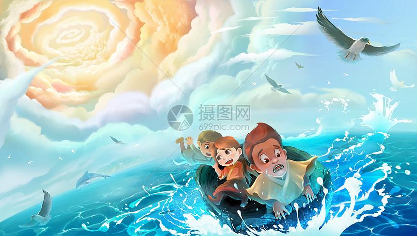 梦幻大海漂流图片