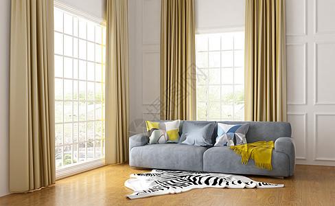 宽敞的室内客厅图片