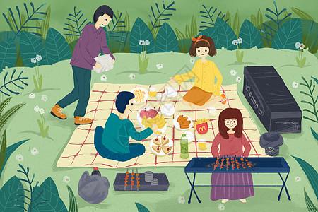 春游野餐图片