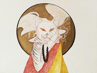 浮世绘猫图片