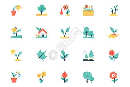 花朵植物图标图片
