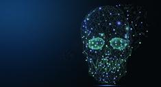 骷颅头科技线条图片