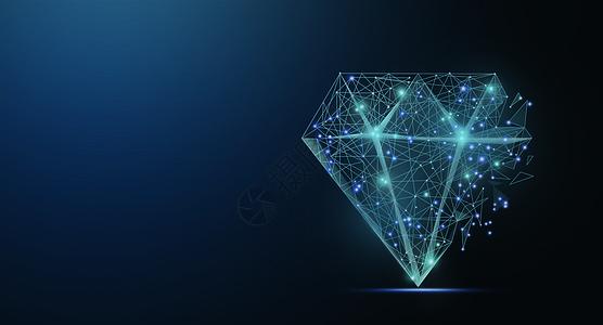 线条科技钻石图片