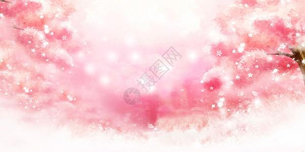 樱花唯美背景图片