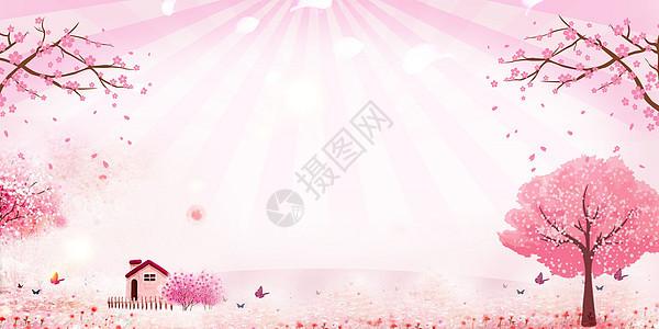赏花季唯美海报图片
