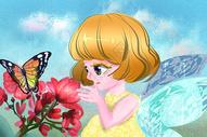 春天里的蝴蝶精灵图片