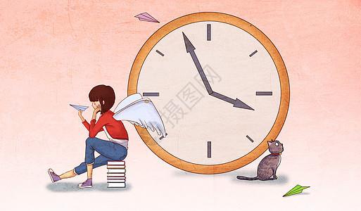 幻想世界的时钟图片