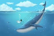 鲸鱼与女孩图片
