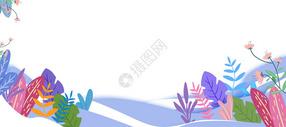 树叶花卉banner图片