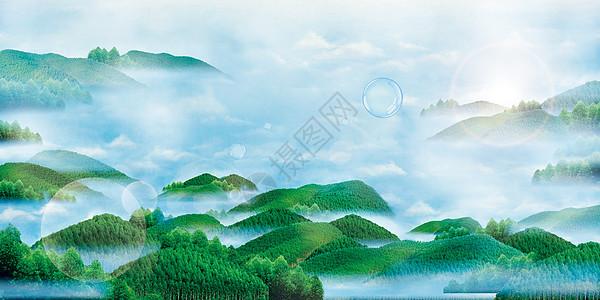 群山环绕图片