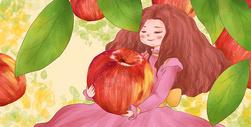 苹果女孩图片