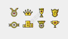 奖杯奖章徽章图标图片