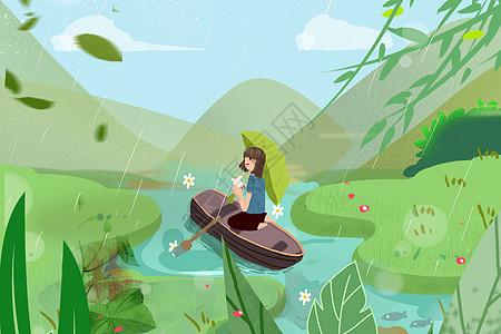 清明划船游玩图片