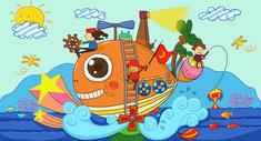 儿童插画之海洋乐园图片