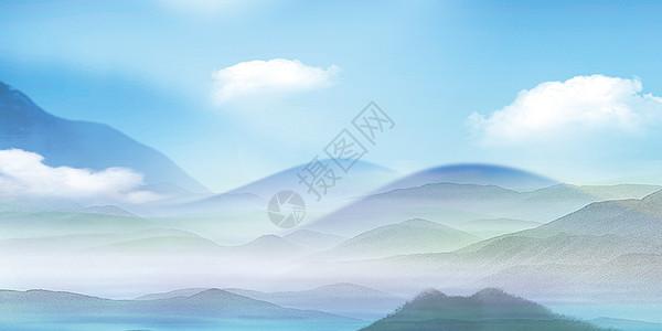 群山叠绕图片