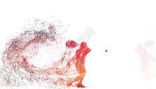 羽毛球运动员剪影图片