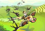 春燕与纸鹤图片