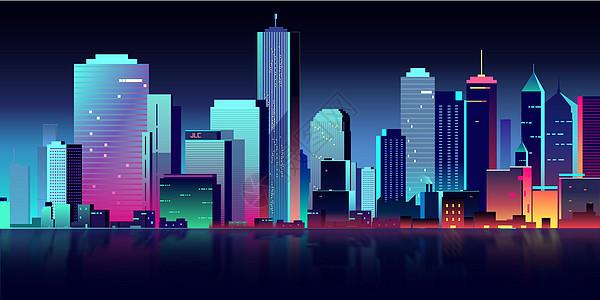 扁平矢量城市建筑图片