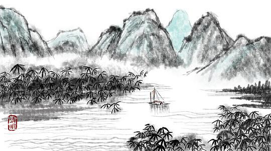 清明水墨中国风背景图片
