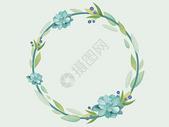 小清新手绘花环图片