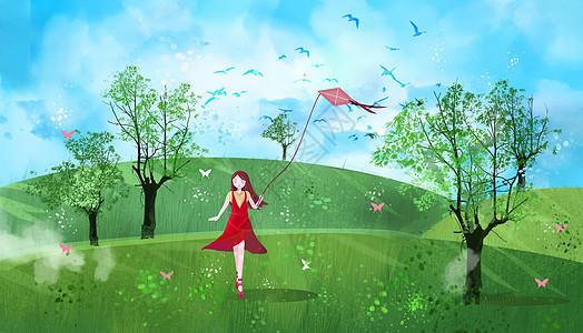 春风春分春景图图片