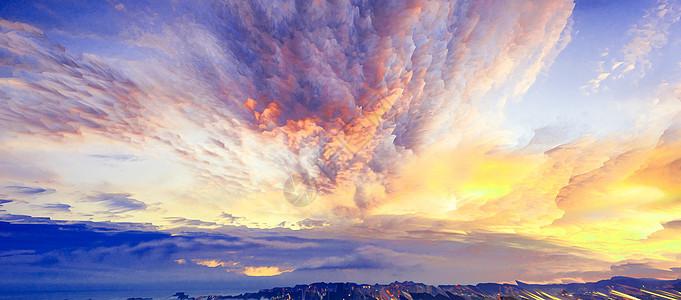 创意云彩风景图片