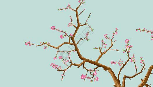 三月桃花开图片