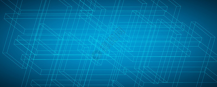 三维空间科技线条背景图片