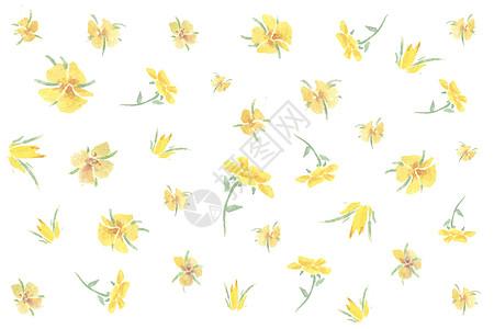 手绘黄色素材