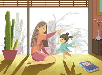 跟妈妈一起跳舞图片