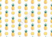 水彩手绘菠萝背景图片