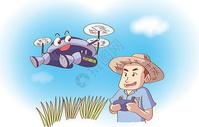 无人机喷洒农药图片