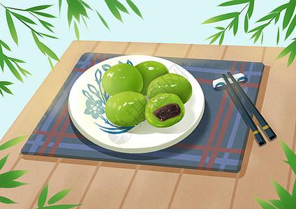 清明节吃青团图片