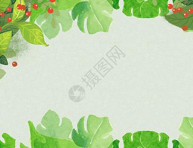 卡通小植物ppt背景