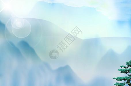山雾缭绕的背景图片