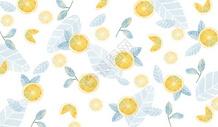 水彩柠檬背景素材图片